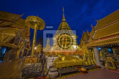 Wat Phra That Doi Suthep. Sławna świątynia w chiangmai, Tajlandia.