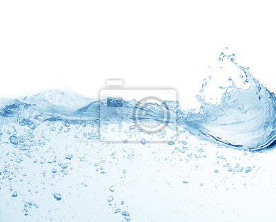 Obraz water splash isolated on white background, beautiful splashes a clean water