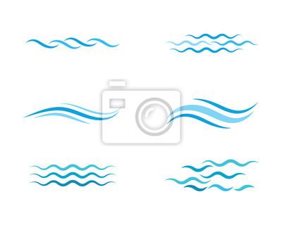 Obraz Water wave icon vector