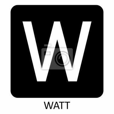 Obraz Watt W symbol illustration