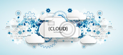 Obraz Web cloud technology, business abstract background.