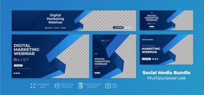 Obraz webinar facebook cover banner template social media post Youtube Thumbnail web banner package Bundle