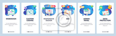 Obraz Website and mobile app onboarding screens vector template