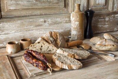Obraz Wędlin i piekarnię traditionnelle