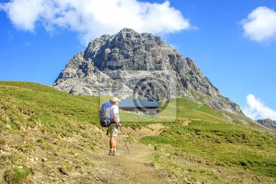 Wędrowiec vor dem Widderstein, Allgäuer Alpen