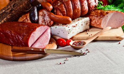 Obraz wędzone mięso