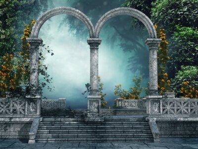 Obraz Wejscie Do Ogrodu z pnącymi Różami
