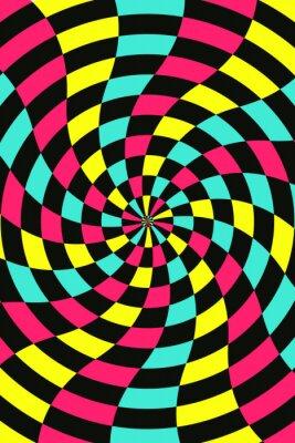 Obraz Wektor abstrakcyjna tła szachy, CMYK concept