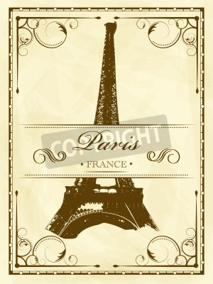 Obraz Wektor archiwalne Paris