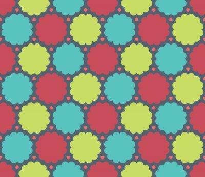 Obraz Wektor bez szwu kolorowe nowoczesna geometria Chmura wzór, kolor abstrakcyjne geometryczne tło, trendy wielobarwny druk, retro tekstury, projektowanie mody hipster