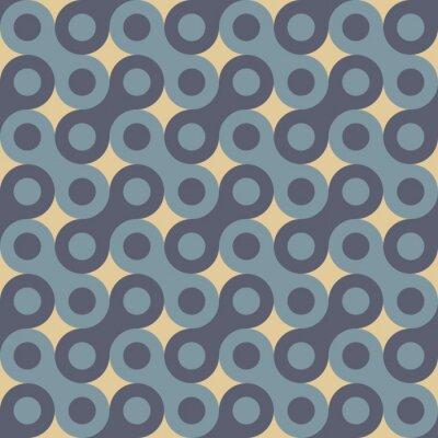 Obraz Wektor bez szwu kolorowy wzór nowoczesnej geometrii, klucz, kolor niebieski abstrakcyjne geometryczne tło, modne wielobarwny druk, retro tekstury, projektowanie hipster mody