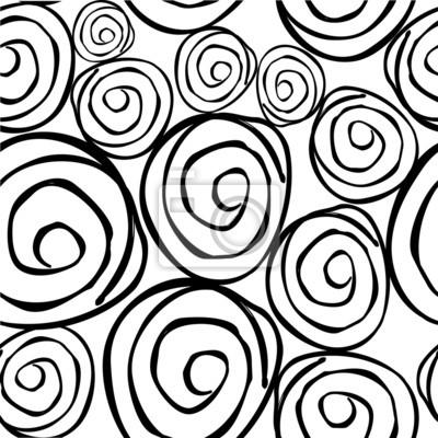 Wektor bez szwu z okrągłymi asymetrycznych kształtach. Nieskończony