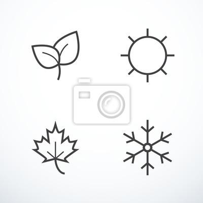 Obraz Wektor ikony sezon