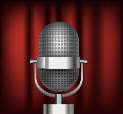 Wektor jasny retro mikrofon.