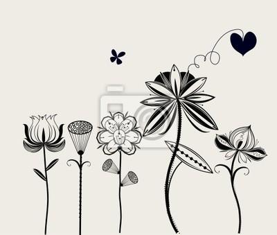 Wektor kwiat tła