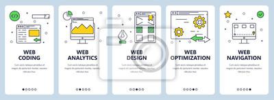 Wektor nowoczesne cienka linia web kodowania koncepcja transparent zestaw