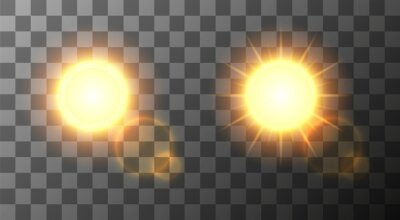 Obraz Wektor nowoczesne słońce ustawić tło.