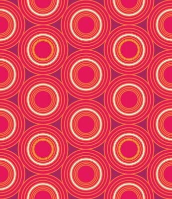 Obraz Wektor nowoczesnych bez szwu kolorowe geometryczne koła wzór, kolor abstrakcyjne geometryczne tło, trendy wielobarwny druk, retro tekstury, projektowanie mody hipster