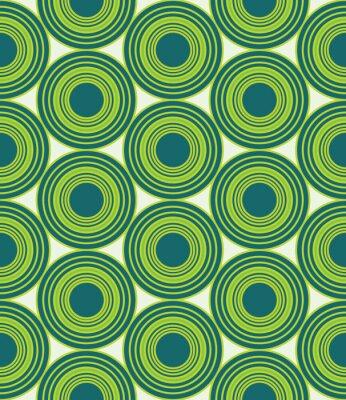 Obraz Wektor nowoczesnych bez szwu kolorowe geometryczne koła wzór, kolor zielony abstrakcyjne geometryczne tło, trendy wielobarwny druk, retro tekstury, projektowanie mody hipster