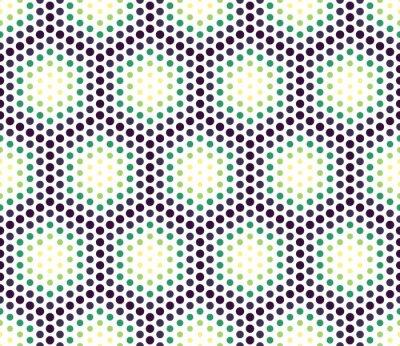 Obraz Wektor nowoczesnych bez szwu kolorowe geometryczne kropki wzór, kolor abstrakcyjne geometryczne tło, poduszka wielobarwny druk, retro tekstury, projektowanie mody hipster