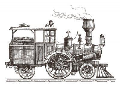 Obraz Wektor Parowóz logo szablon. pociąg lub transportu