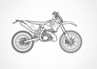 Obraz wektor rower górski