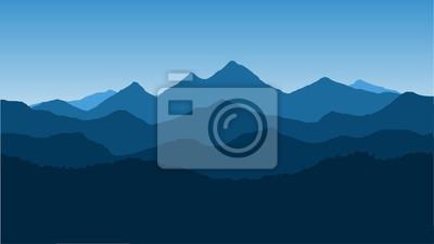 Obraz Wektor tapety z krajobrazem, pasmo górskie