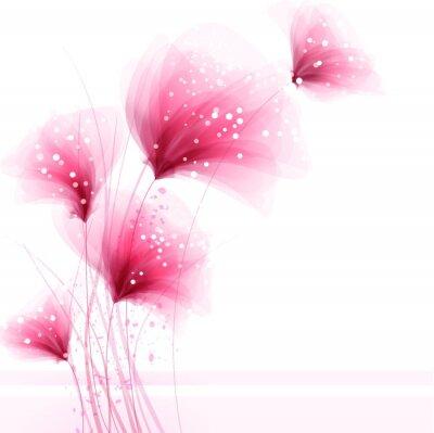 Obraz Wektor tła z kwiatami