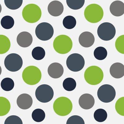 Obraz Wektor wzór z zielonych, szarych kropki
