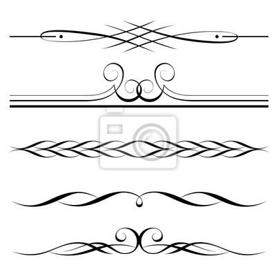 Obraz wektor zestaw element w dekoracyjnych obramowania i for Greche decorative