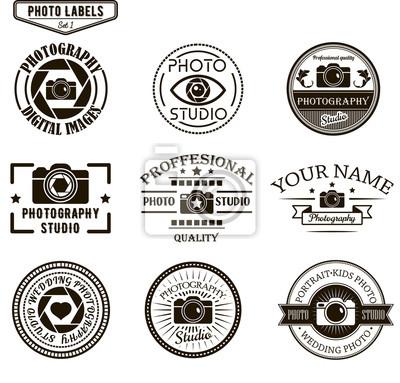 Wektor zestaw fotografii szablony logo. Photo Studio logotypy i elementy konstrukcyjne