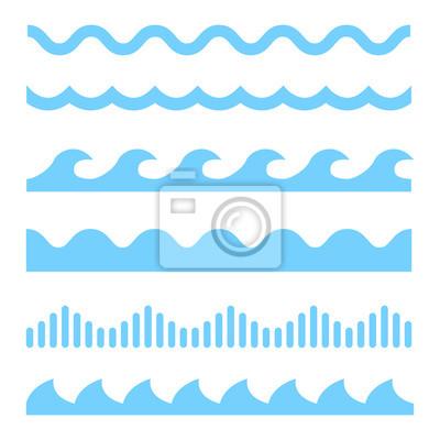 Obraz wektor zestaw ikon Blue Wave