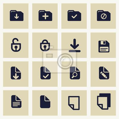 Wektor zestaw z dokumentów ikon.