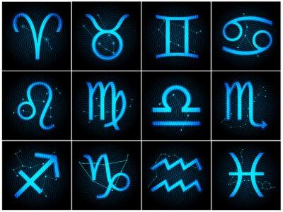 Obraz Wektor Znaki zodiaku z gwiazdami