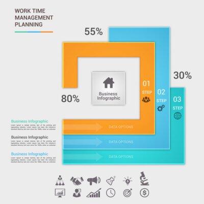 wektora projektu Infographic. EPS 10. Może być stosowany do diagramu, transparent, opcji numerycznych, układ przepływu pracy, zwiększyć możliwości i projektowanie stron internetowych.