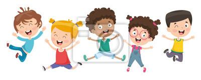 Obraz Wektorowa ilustracja dzieci Bawić się