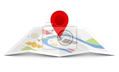 Obraz Wektorowa mapa wskaźnika pin