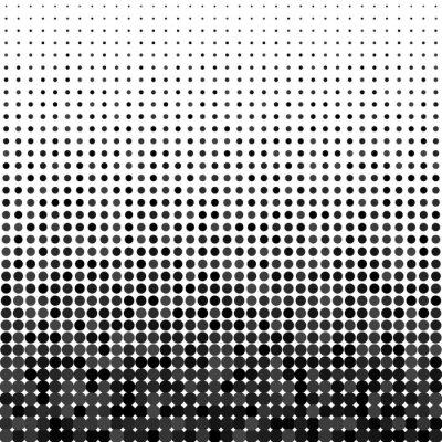 Obraz Wektorowe kropki. Czarne kropki na białym tle.