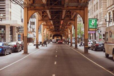 Obraz Wells Street under the