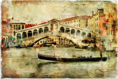 Wenecja, Most Rialto - obraz artystyczny