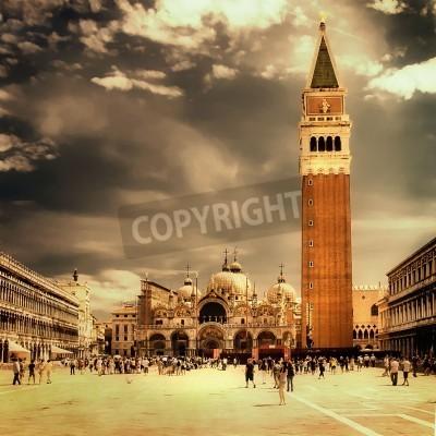 Obraz Wenecja, San Marco kwadratowych - Wielki zabytków włoski serii - artystyczne stonowanych hotelu