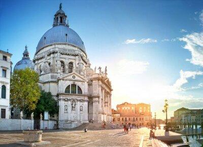 Obraz Wenecja, Wenecja - Santa Maria della Salute w Sundown
