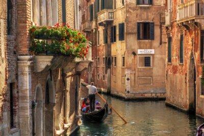 Obraz Wenecja, Włochy. Gondola na romantyczny kanał.