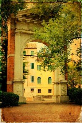 Obraz Wenecka architektura - stary papier