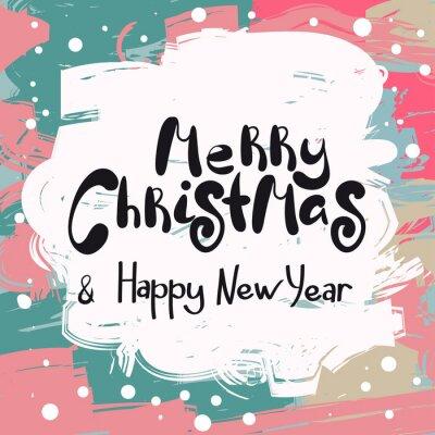 Wesołych Świąt i szczęśliwego nowego roku projekt karty