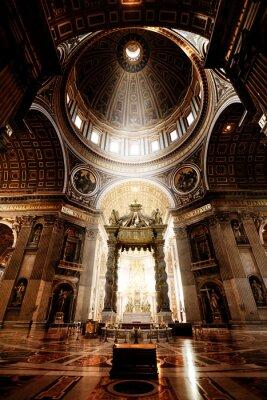 Obraz Wewnątrz Bazyliki Świętego Piotra, Watykan