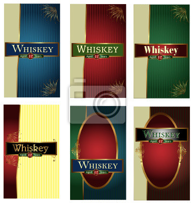Whiskey Label Vectorset 15