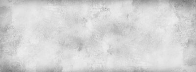 Obraz White background with grunge texture, watercolor painted marbled white background with vintage grunge textured design on stone gray color banner, distressed old antique parchment paper