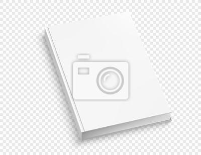 Obraz White hardcover book vector mock up isolated on white background.