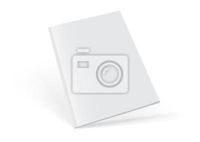 Obraz white magazine on white background mock up